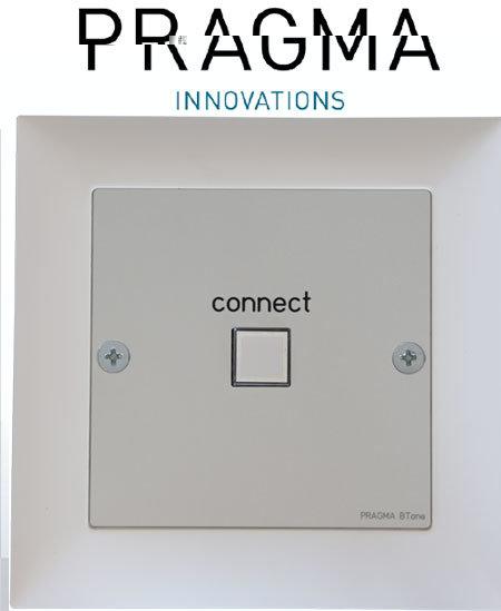 Pragma Innovations: BTone Bluetooth Audio Modul für EU-Wandeinbaudosen